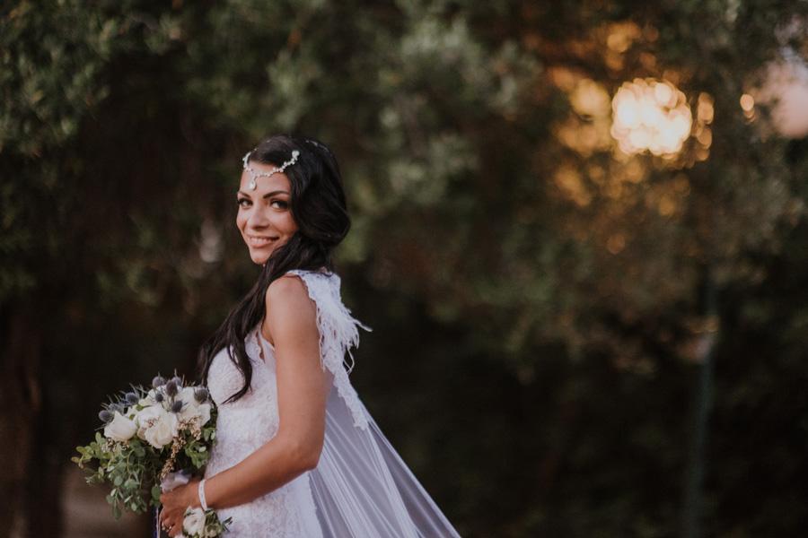 White n blue wedding theme