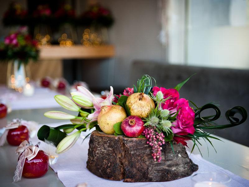 Pomegranate theme christening