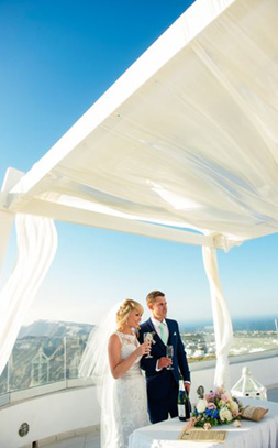 wedding in santorini  婚庆策划人 wedding in greece santorini sunset travel greece2